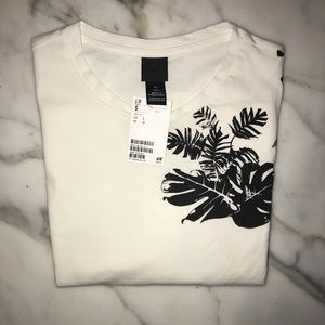 H&M | Men's Leaf Print T-Shirt